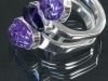 Amethyst Triple Ring
