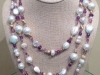 Pearl and Amethyst Wrap Necklace 60