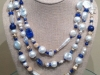 Lapis and Pearl Wrap Necklace 60