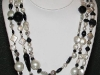 Freshwater Majorca Pearls with Onyx Necklace 60