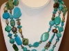 Turquoise Wrap Necklace w/sterling silver 60