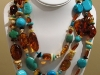 Baltic Amber and Turquoise Neckalce
