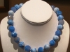 Blue Crazy Lace Faceted Cut Agate