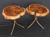 Book-Matched Acacia Side Tables