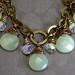 Pale green Jade Tear Drop Necklace