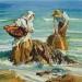 Pescadores y rocas (Valencia, Espana)