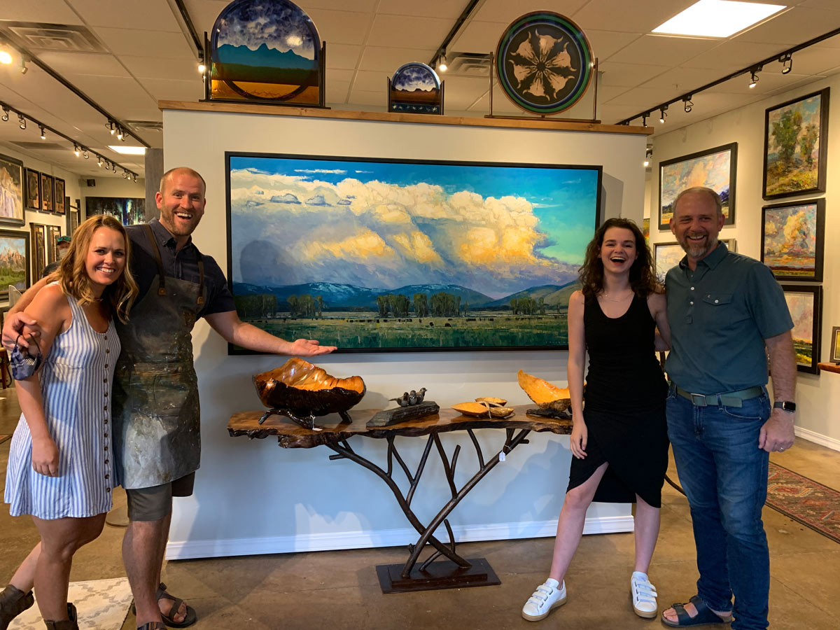 Artist Caleb Meyer Exhibit at Horizon Fine Art Gallery in Jackson Hole on July 3, 2020.