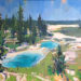 "Chris Segre-Lewis, ""Twin Pools, Yellowstone"" Oil on Canvas ~ 24"" x 24"""