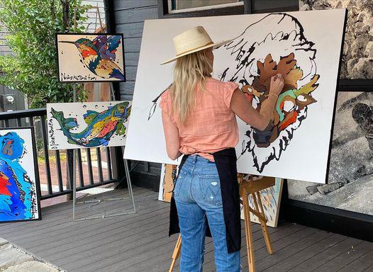 Nicole Gaitan, Artist at Horizon Fine Art Gallery, Jackson Hole